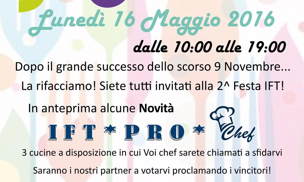 2° Festa Italian Food Trading Lunedì 16 Maggio 2016