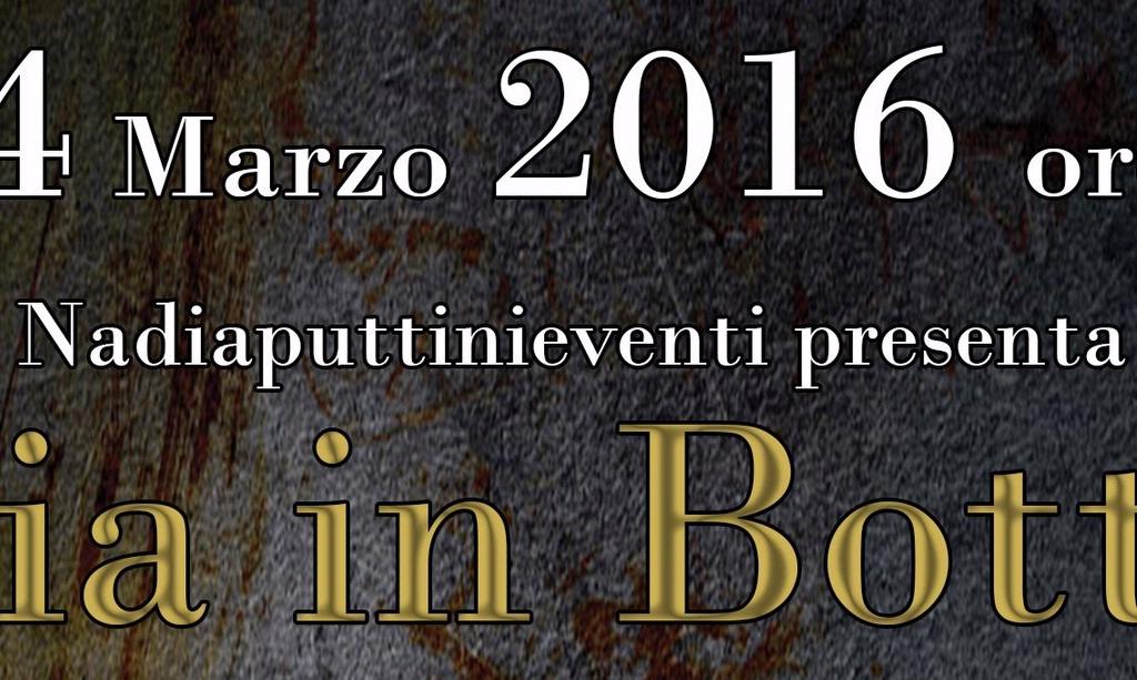 Poesia in Bottiglia 4 marzo 2016